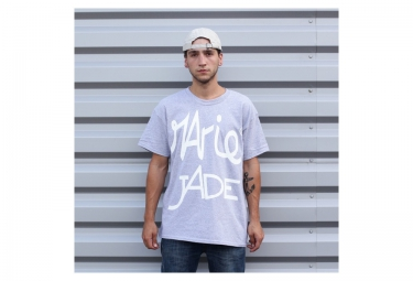 MARIE JADE T Shirt Propagande Blanc Gris