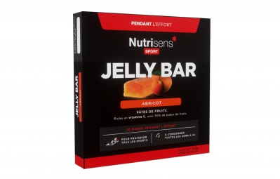 NUTRISENS Pâte de fruits JELLY BAR 4 x 25g Abricot