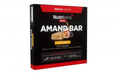 NUTRISENS Barre énergétique AMAND BAR étuit de 4 x 25g Amande Figue Miel