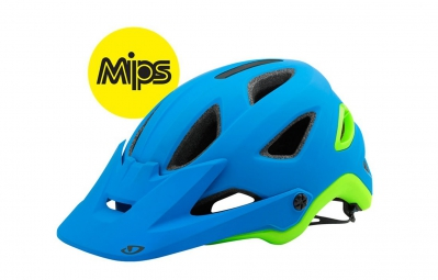 casque all mountain giro montaro mips bleu vert mat s 51 55 cm
