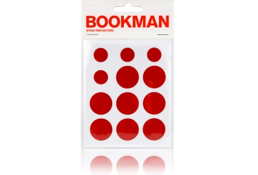 BOOKMAN Stickers Reflechissant Rouge