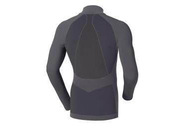 odlo maillot manches longues evolution warm zip gris xl
