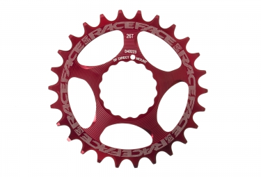 Plateau narrow wide race face direct mount cinch 6mm rouge 26