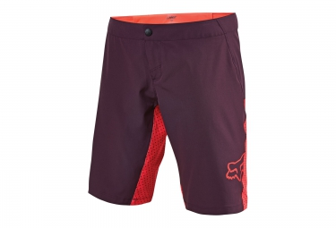 fox short femme lynx plum rose xl