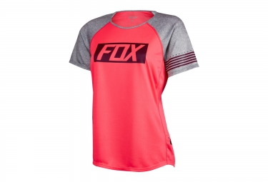 FOX Maillot Femme Manches Courtes RIPLEY Rose
