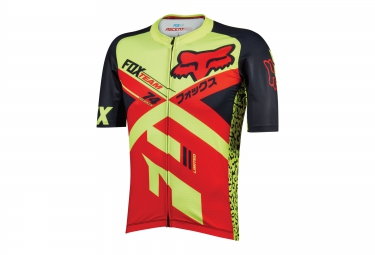 FOX Maillot manches courtes ASCENT PRO Rouge Jaune