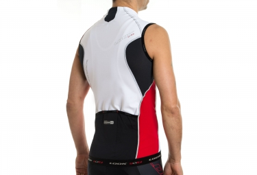 look maillot sans manches pro team sl blanc rouge xs