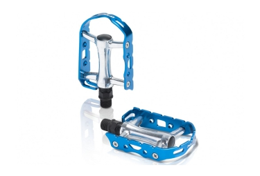 Xlc paire de pedales pd m15 argent bleu