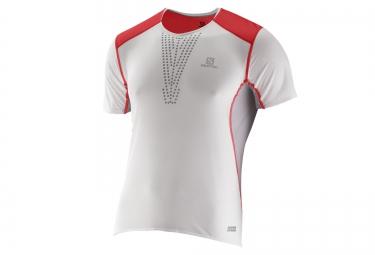 salomon t shirt s lab sense blanc rouge xl