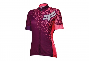 FOX Maillot Manches Courtes Femme SWITCHBACK COMP Rose