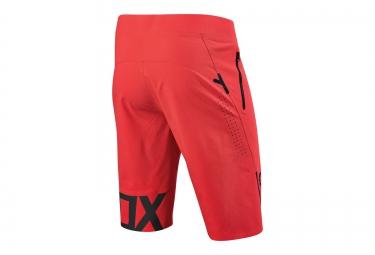 short avec peau fox attack pro rouge neon 34