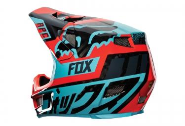 Casque FOX RAMPAGE PRO CARBON DIVIZION MIPS Aqua Rouge
