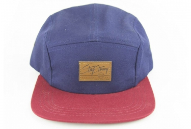STAYSTRONG CasquetteCAMPER 5 PANEL - Rouge/Navy