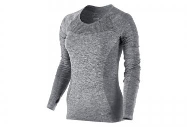 Nike maillot dri fit knit gris femme xs