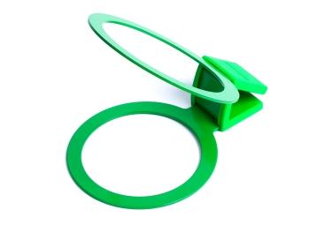 bookman porte gobelet sur cintre cup holder vert