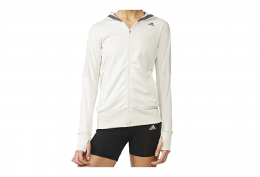 adidassweat a capuche beyond the run blanc femme xs
