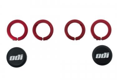 ODI Bagues LOCK-ON aluminium Rouge