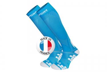 bv sport chaussettes de compression xlr bleu l