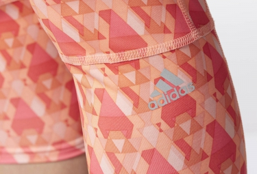 adidas Collant 3/4 SUPERNOVA Rose Orange Femme