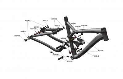 TREK Rocker Pivot Nuts M10x1.0 Seatstay Noir