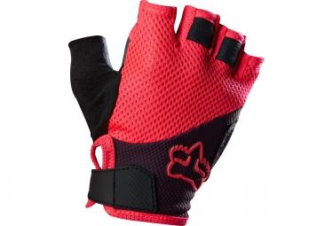 fox paire de gants courts femme reflex gel short rouge noir l
