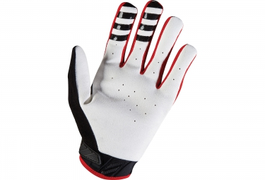 fox paire de gants longs sidewinder rouge blanc s