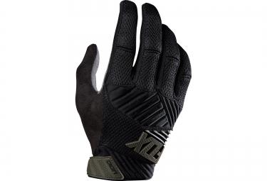 fox paire de gants digit noir gris s