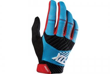 FOX Paire de gants DIGIT Bleu Rouge