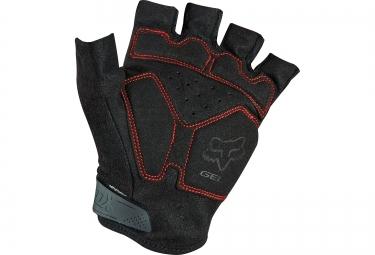 fox paire de gants courts reflex gel rouge s