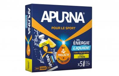 apurna gel energetique liquide citron boite 5x35g