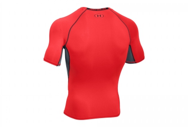 UNDER ARMOUR Maillot de Compression Manches Courtes HEATGEAR ARMOUR Rouge Noir