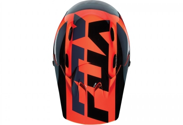 casque fox rampage mako orange noir xl 61 63 cm