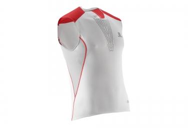salomon maillot s lab sense tank blanc rouge xs