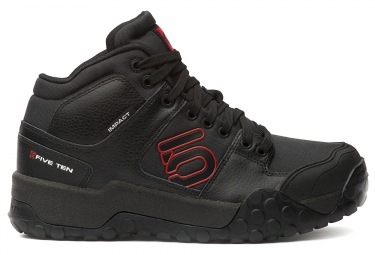 Chaussures vtt five ten impact high noir rouge 46