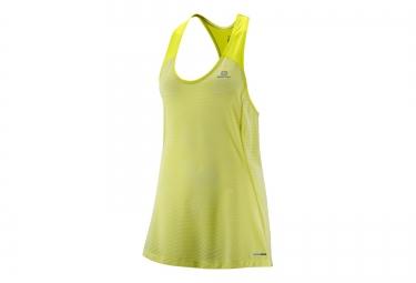 salomon maillot elevate tank jaune femme s