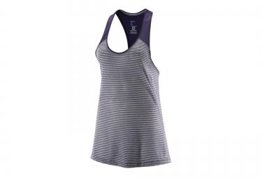salomon maillot elevate tank violet femme s