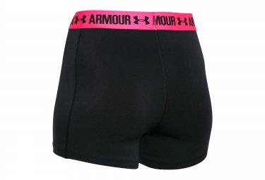 UNDER ARMOUR Short HEATGEAR ARMOUR 3´´ Noir Rose Femme