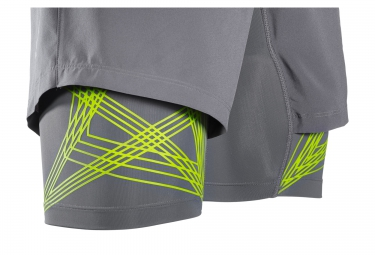 SALOMON Short 2-en-1 INTENSITY TW Gris Vert