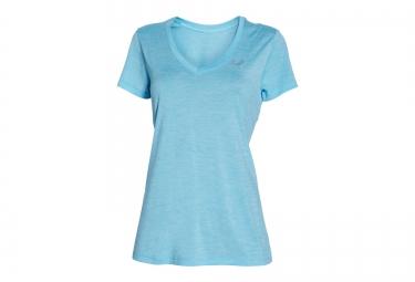 Under armour maillot manches courtes twist tech bleu clair femme l