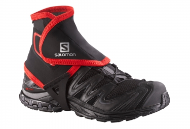 SALOMON Gaiters High TRAIL Black Red