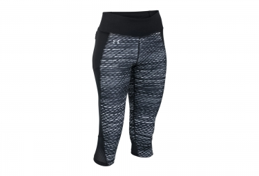UNDER ARMOUR Collant 3/4 FAST FORWARD 2.0 PRINTED Noir Gris Femme