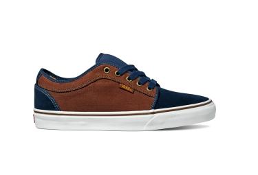 vans 2016 paire de chaussures chukka low bleu marron 45 1 2