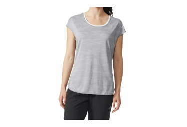 Adidas maillot manches courtes reversible run reversible gris blanc femme 34