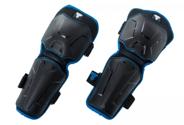trickx genouilleres avec protege tibia wapy kids 2 noir bleu
