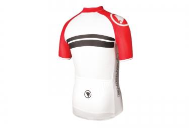 maillot manches courtes endura fs260 pro sl rouge blanc xxl