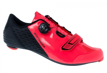 chaussures route bontrager velocis noir rose radioactif 42
