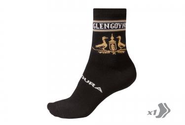 endura paire de chaussette merinos glengoyne noir jaune 37 42