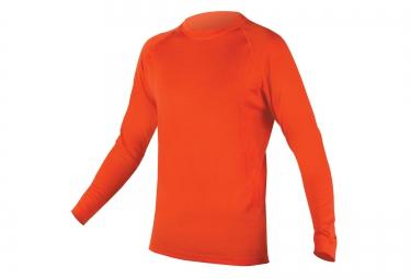 endura maillot manches longues merino orange l