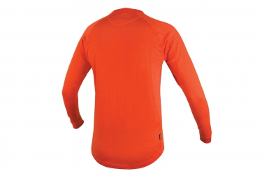 endura maillot manches longues merino orange m