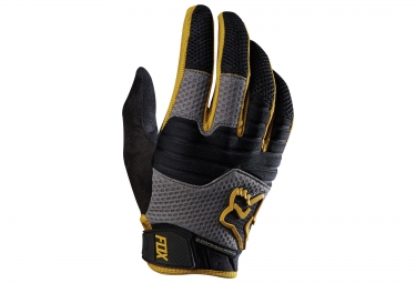 FOX Paire de Gants longs SIDEWINDER Noir Or